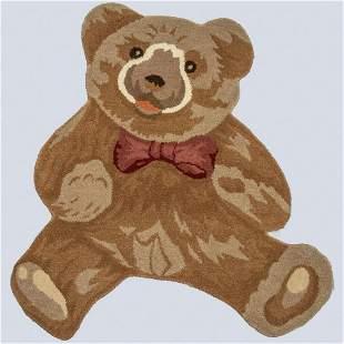 Hand Tufted Indo Bear Design Wool Rug