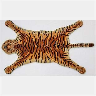 Hand Tufted Indo Tiger Design Wool Rug,