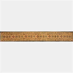 Indo Turkish Oushak Long Wool Runner