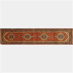 Indo Persian Heriz Serapi Wool Runner