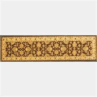 Pakistani Persian Tabriz Wool Runner,