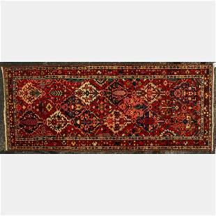 Antique Persian Bakhtiari Wide Wool Runner,