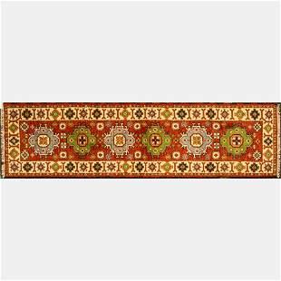 Indo Caucasian Kazak Wool Runner