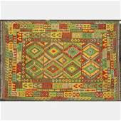 Turkish Caucasian Kazak Kilim Wool Rug