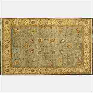 Indo Persian Tabriz Wool Rug, Palace Collection by