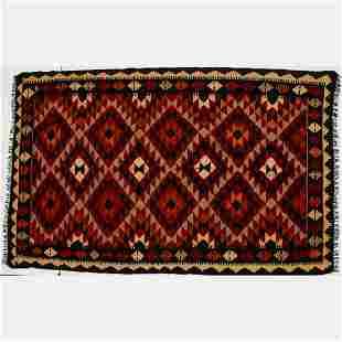 Persian Kurdish Village Kilim Wool Rug