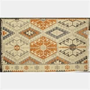 Indo Turkish Caucasian Kazak Kilim Wool Rug