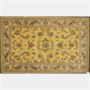 Hand Tufted Indo Turkish Oushak Wool Rug