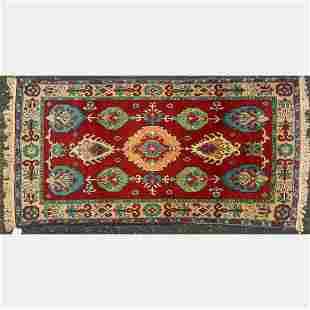 Turkish Oushak Wool Rug