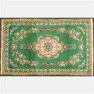 Persian Nain Silk and Wool Rug