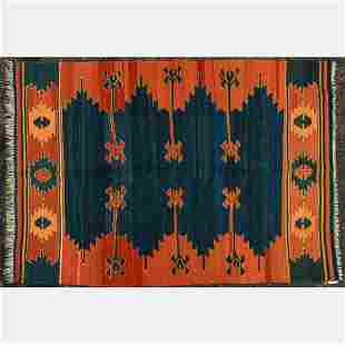 Turkish Caucasian Kilim Wool Rug