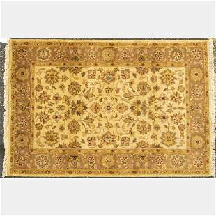 Indo Turkish Oushak Wool Rug
