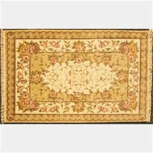 Sino Persian Tabriz Silk and Wool Rug