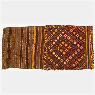 Antique Caucasian Kazak Soumak Kilim Wool Rug