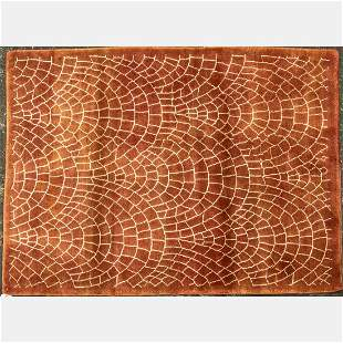 Indo Mid Century Modern Wool Rug