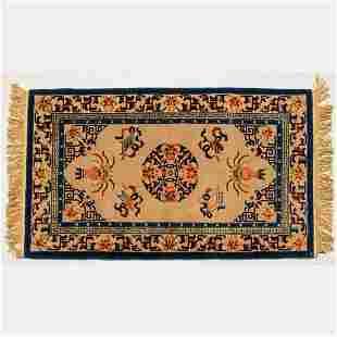 Chinese Peking Silk And Wool Rug