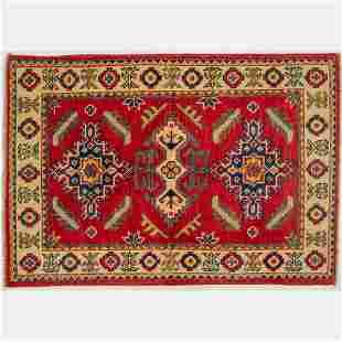 Afghani Caucasian Kazak Wool Rug
