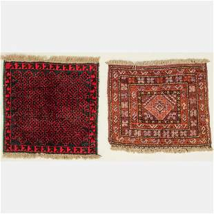 Two Antique Persian Balouch Wool Rugs
