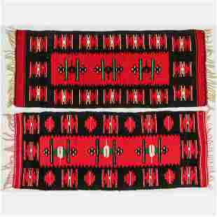 Two Hand Knotted Turkish Kilim Wool Rugs