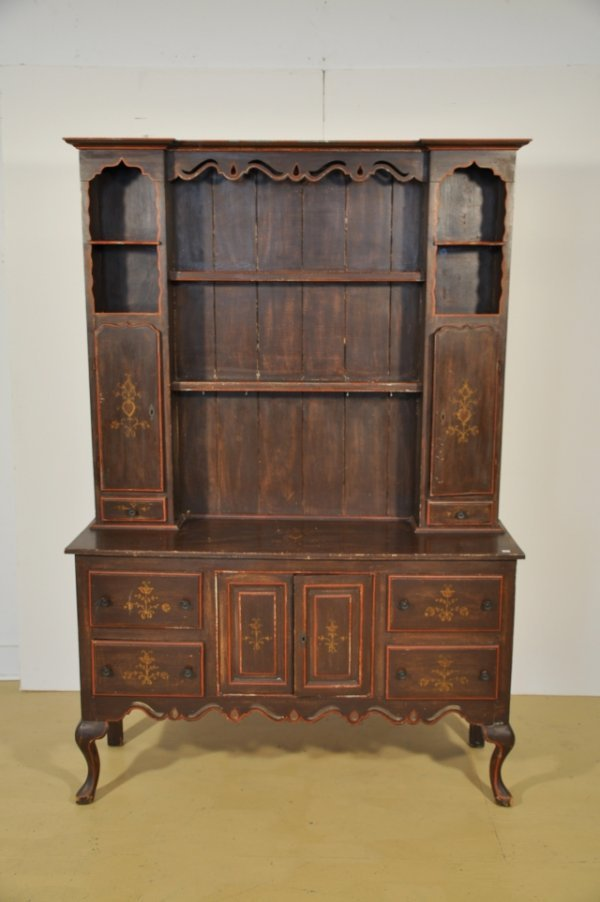 2: A 20th Century Mahogany Welsh Dresser with Painted D