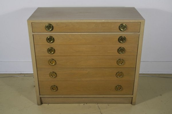 18: An Edward Wormley for Dunbar Walnut Six Drawer Silv
