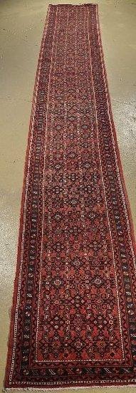 3: A Semi Antique Persian Hamadan Wool Runner.