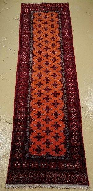 6: A Semi Antique Persian Turkoman Wool Runner.