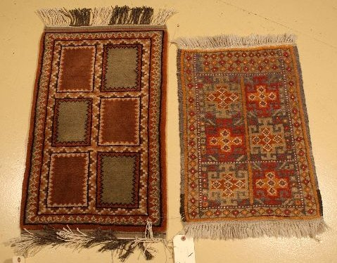 10: A Pair of Two Persian Turkoman Wool Rugs.