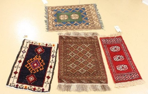 13: A Group of Four Persian Turkoman and Kurd Wool Rugs