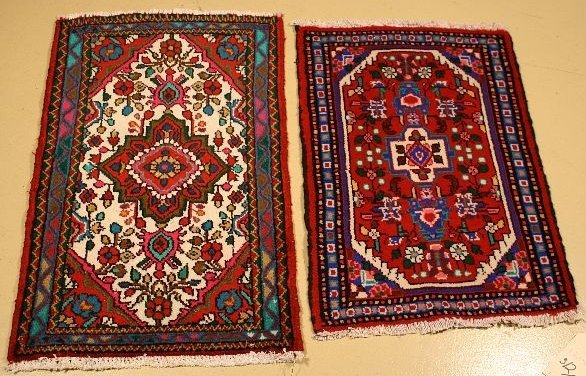 14: A Pair of Persian Hamadan Wool Rugs.