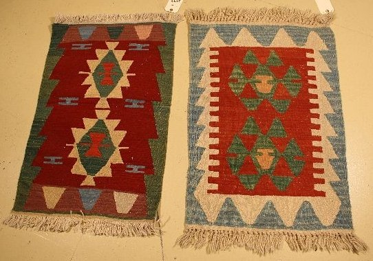 22: A Pair of Turkish Kilim Rugs.