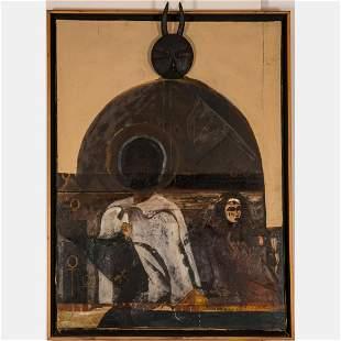 Al Bright (American, 1940-2019) DEJAVU, Oil on canvas