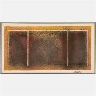 Jake Berthot (American, 1939 - 2015) Triptych, Acrylic