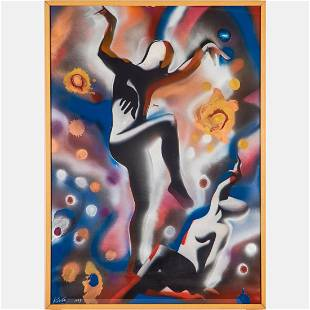 Mark Kostabi (American, b. 1960) The Blossoming of