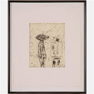 John Walker (British, b.1939) Untitled, Etching,