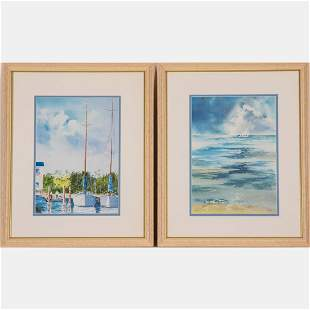 Two Offset Lithographs by Wayne King,