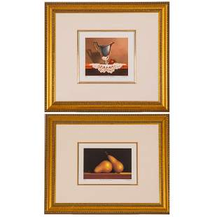Two Offset Lithographs by Patrick Seslar ( American,