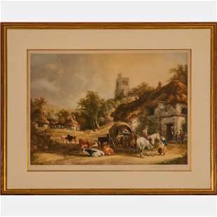 Eugene James Tily (British, 1870-1937) The Swan Inn,