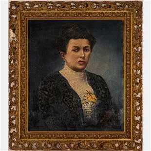 Gavro Ledinski (19th/20th Century) Portrait of Lady,