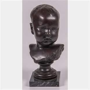 Charles Verlet (French, 1857-1923) Infant Child Bust,
