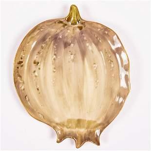 A Carlsbad Austria Hand Painted Porcelain White Pumpkin