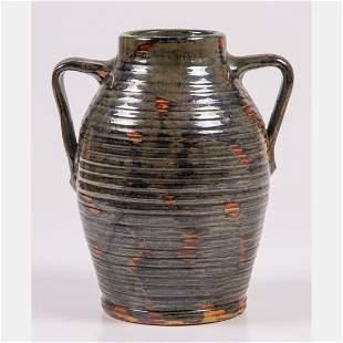 A Fulper Art Pottery Colonial Ware Double Handled Vase,