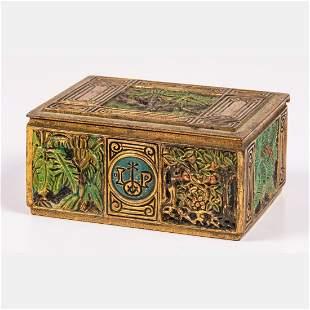 A Tiffany Studios New York Gilt Bronze Cigarette Box,