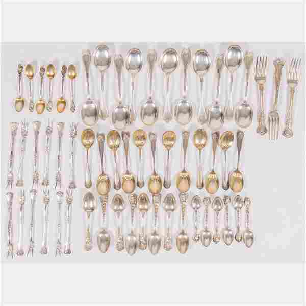 A Miscellaneous Collection of Sterling Silver Flatware