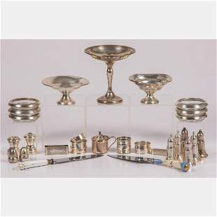 A Collection of Weighted Sterling Silver Serving Items