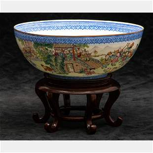 A Chinese Eggshell Porcelain Bowl, 20th Century,