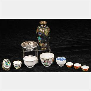 A Collection of Chinese Porcelain, Silver and Enameled