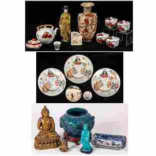 A Miscellaneous Collection of Asian Porcelain and