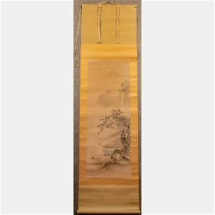 A Chinese Painted Scroll on Silk,