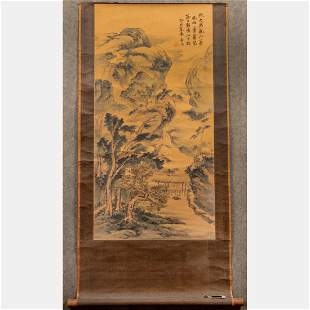 A Chinese Painted Scroll on Paper,